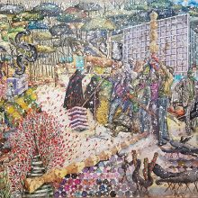 "Bahrang Samadzadegan, ""As Serious as Children's Games"", 148 x 215 cm, 2018"
