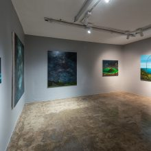 """Milad Jahangiri, """"A Duo Exhibition by Iman Ebrahimpour and Milad Jahangiri"""", installation view, 2020"""