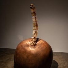 """Amir Mobed, """"#5"""", from """"Praising the Tool"""" series, bronze, fiberglass covered with bronze, 203 x 120 x 120 cm, edition of 3 + AP, 2020"""