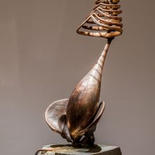 """Amir Mobed, """"#3"""", from """"Praising the Tool"""" series, bronze, concrete, 174 x 40 x 55 cm, edition of 3 + AP, 2020"""