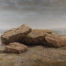 """Hosein Mohamadi, """"For Shipak Tir"""", from """"Yazashn"""" series, acrylic and oil on canvas, 150 x 200 cm, 2021"""