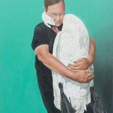 Alireza Rajabi, untitled, acrylic on canvas, 70 x 62 cm, 2020
