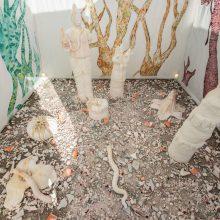"""Dorsa Asadi, """"Temple/Garden"""" (detail), installation at Bam, 2020"""