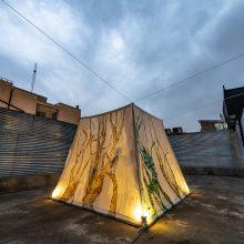 """Dorsa Asadi, """"Temple/Garden"""", installation at Bam, 2020"""