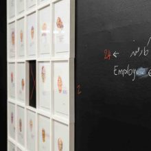 """Employee"" series, installation view"