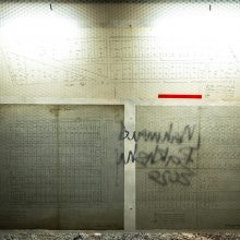 "Mahmoud Bakhshi, from ""Marking System"" project, (map, bubble wrap, plexiglas, wood and fluorescent lamp), 77 x 100 cm, open edition, 2020"