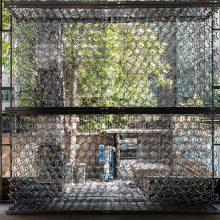 "Mahmoud Bakhshi, from ""Bahman Wall"" project, installation view, 2020"