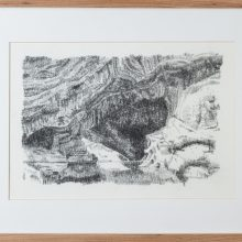 """Zahra Ghyasi, """"Cavescape No. 1"""", from """"Arithmomania"""" series, pencil on paper, 38.5 x 50.5 cm, 2019"""