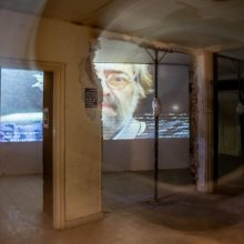 """Mahmoud Bakhshi, from """"Unity of Time and Place"""" Project, installation view, 2020"""