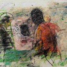 Maede Salar, untitled, mixed media, 34 x 43 cm, 2018