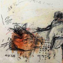 Maede Salar, untitled, mixed media, 42 x 34 cm, 2018