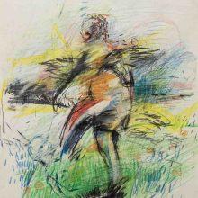 Maede Salar, untitled, mixed media, 48 x 30 cm, 2018