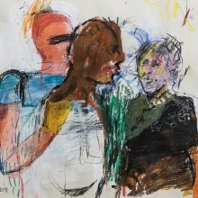 Maede Salar , untitled, mixed media, 41 x 50 cm, 2018