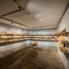 """Mahsa Aleph, from """"The Container made of the Contained"""" series, installation view"""