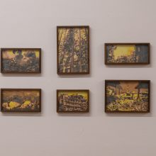 "Majid Biglari, ""Mourning"" series, Factory 03, installation view, 2020"