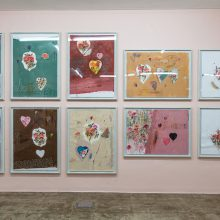 """Seyed Mohamad Mosavat, """"Acute Happiness"""" series, factory 03, installation view, 2020"""
