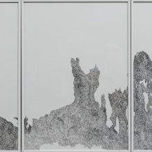 Ghasem Ahmadi, untitled, radiograph on paper, triptych, 30 x 63 cm, unique edition, 2019