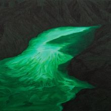 """Mahdieh Kavakebpanah, untitled, from """"Artificial Nature"""" series, oil on canvas , 30 x 40 cm, 2020"""