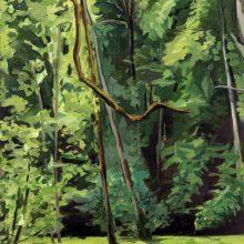 "Hanie Farhadinik, untitled, from ""Swimmer"" series, oil on canvas, 70 x 50 cm, frame size: 80 x 60 cm, 2020"