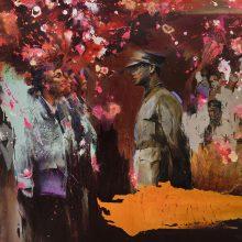 "Amir-Hossein Zanjani, ""Graduates"", oil on canvas, 200 x 250 cm, 2019"