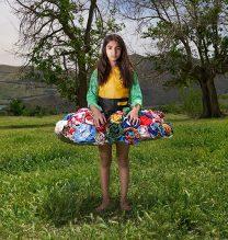 """Elha"",From ""Little Guardians"" series, 60 x 90 cm, 2016 , Curator: Tala Porbaha, Costume Design Director: Neda Nasr, Photograohy: Alireza Fani"