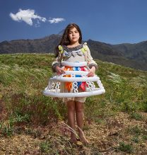 """Lena"",From ""Little Guardians"" series, 60 x 90 cm, 2016 , Curator: Tala Porbaha, Costume Design Director: Neda Nasr, Photograohy: Alireza Fani"