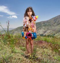 """Asha"",From ""Little Guardians"" series, 60 x 90 cm, 2016 , Curator: Tala Porbaha, Costume Design Director: Neda Nasr, Photograohy: Alireza Fani"