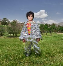 """Borna"",From ""Little Guardians"" series, 60 x 90 cm, 2016 , Curator: Tala Porbaha, Costume Design Director: Neda Nasr, Photograohy: Alireza Fani"