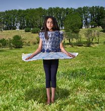 """Sara"",From ""Little Guardians"" series, 60 x 90 cm, 2016 , Curator: Tala Porbaha, Costume Design Director: Neda Nasr, Photograohy: Alireza Fani"