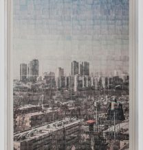 """Sasan Abri, untitled, from """"Exposed"""" series, image transferred on paper, unique edition, 195 x 145 cm, 2015-2018"""