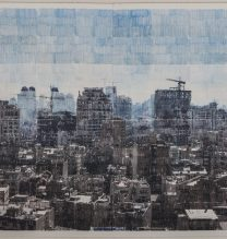 """Sasan Abri, untitled, from """"Exposed"""" series, image transferred on paper, unique edition, 145 x 195 cm, 2015-2018"""