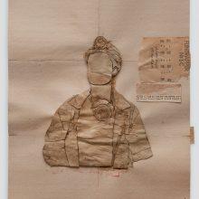 Mojtaba Amini, untitled, collage, (paper, sandpaper), 75.5 x 63.5 cm, 2019