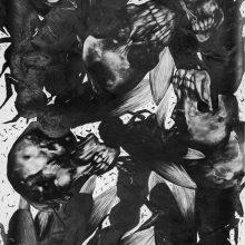 "Sara Abbasian, Untitled, from ""Epidemy"" series, pencil on cardboard, 107 x 280 cm, 2018"