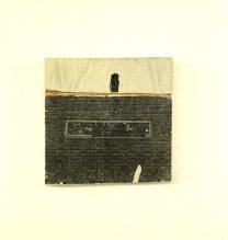 Mehdi Dandi, Untitled, Mixed Media on Plaster Board, 13 x 14 cm, 2017