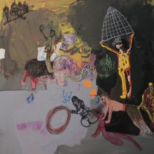 "Seyed Mohamad Mosavat, untitled, from ""Israfil's Trumpet"" series, mixed media, 75 x 75 cm, 2018"