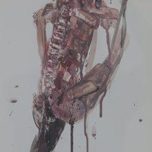 "Seyed Mohamad Mosavat, Untitled, From ""Sorrow"" Series, Mixed Media, 45 x 35 cm, 2016"