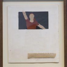 Mojtaba Amini, collage, (paper, sandpaper), 33.5 x 37.5 cm, 2018