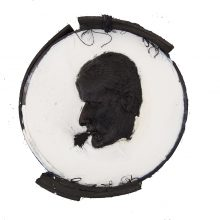 """Mojtaba Amini,""""#03″, from """"Zel (lit. Early Morning Shadow)"""" series, mixed media, (plaster, soap, sieve), 2018"""
