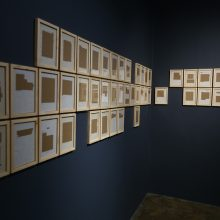 "Majid Biglari, ""13 Aban, 1358"", from ""The Experience of Dishevelment"" series, mixed media (paper, cardboard, etc.), 18 x 25 cm, 2017"