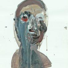 "Seyed Mohamad Mosavat, Untitled, from ""Sorrow"" series, mixed media, 58 x 43.5 cm, 2016"