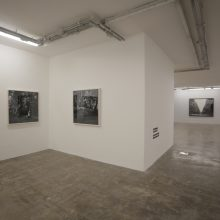 """Vahid Dashtyari, From """"In It What Is In It"""" Series, Installation View, 2017"""