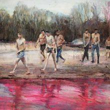 "Mahsa Nouri, untitled, from ""Return"" series, oil on paper, 46 x 60 cm , 2020"