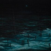 """Milad Jahangiri, untitled, from """"Despondency"""" series, oil on canvas, 38 x 62 cm, 2020"""