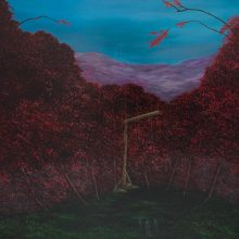"""Milad Jahangiri, untitled, from """"Despondency"""" series, oil on canvas, 136 x 156 cm, 2020"""