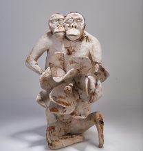 "Nahid Behboodian, Untitled, From ""Sepulcher"" series, Papier-mâché, 58 x 98 x 85 cm, 2017"
