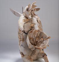 "Nahid Behboodian, Untitled, From ""Sepulcher"" series, Papier-mâché, 50 x 67 x 95 cm, 2017"