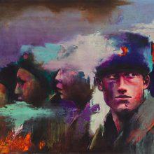 "Amir-Hossein Zanjani, ""Russian Boys"", oil on canvas, 70 x 100 cm, 2017"