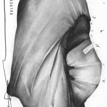 """Sara Abbasian, untitled, from """"Cluster 5"""" series, pencil on paper, 28 x 20 cm ,2021"""