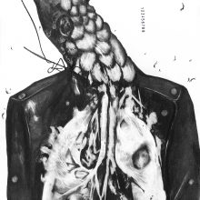 """Sara Abbasian, untitled, from """"Cluster 5"""" series, pencil on paper, 50 x 33 cm, frame size: 60.5 x 43 cm, 2021"""