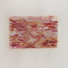 """Sahar Kheitan, untitled, from """"High Seas"""" series, acrylic on cardboard, 15 x 22.5 cm, frame size: 36.5 x 32.5 cm, 2020"""